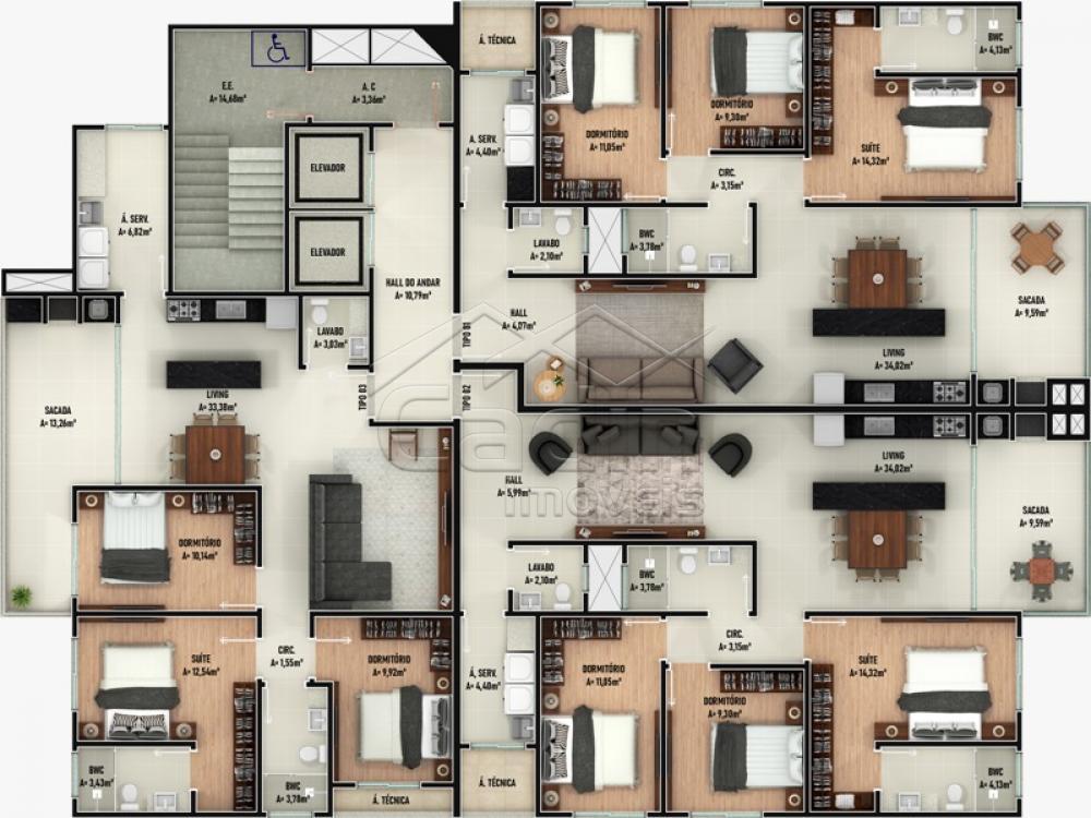Comprar Apartamento / Padrão em Navegantes R$ 395.000,00 - Foto 3