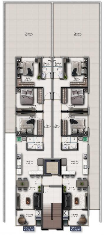Alugar Apartamento / Padrão em Navegantes. apenas R$ 359.000,00